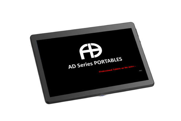 10.1 Portable Tablet with AD Series transparrent with Portables Logo